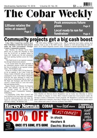 online magazine - The Cobar Weekly Sep 19, 2018