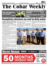 online magazine - The Cobar Weekly Oct 4, 2018