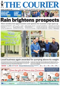 online magazine - The Courier and Wee Waa News, October 23, 2018
