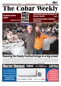 online magazine - The Cobar Weekly, October 31, 2018