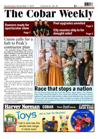 online magazine - The Cobar Weekly, November 7, 2018