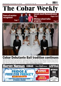 online magazine - The Cobar Weekly, November 14, 2018