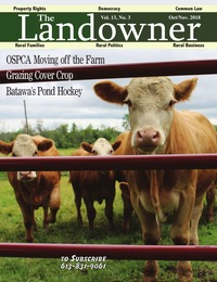 online magazine - The Landowner Magazine - Oct. / Nov. 2018 Volume 13 Number 3