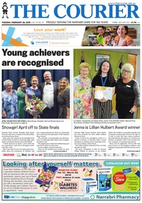 online magazine - The Courier and Wee Waa News, February 26, 2019