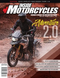 online magazine - Inside Motorcycles • Vol. 22, Iss. 01 • April 2019