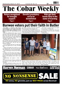 online magazine - The Cobar Weekly, March 27, 2019