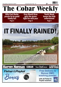 online magazine - The Cobar Weekly April 25, 2019