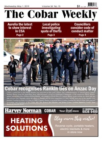 online magazine - The Cobar Weekly, May 1, 2019