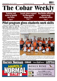 online magazine - The Cobar Weekly July 10, 2019