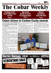 online magazine - The Cobar Weekly August 14, 2019