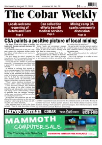 online magazine - The Cobar Weekly, August 21, 2019