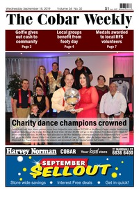 online magazine - The Cobar Weekly September 18, 2019
