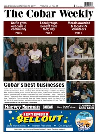online magazine - The Cobar Weekly September 25, 2019