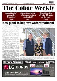 online magazine - The Cobar Weekly, October 10, 2019