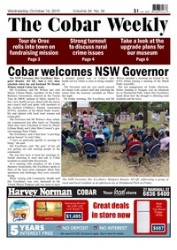 online magazine - The Cobar Weekly October 16, 2019