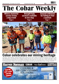 online magazine - The Cobar Weekly, October 01, 2019