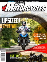 online magazine - Inside Motorcycles I Vol. 22, Iss. 07 I Dec. 2019