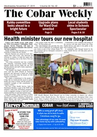 online magazine - The Cobar Weekly, November 27, 2019