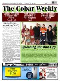 online magazine - The Cobar Weekly, December 18, 2019