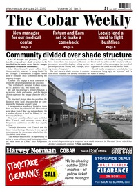 online magazine - The Cobar Weekly, January 22, 2020